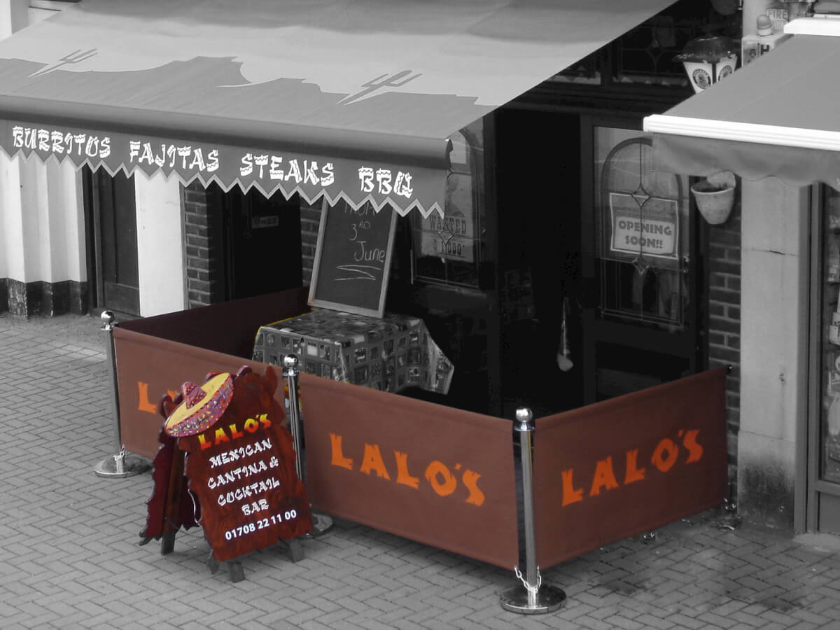 Lalo's brown coffee barriers