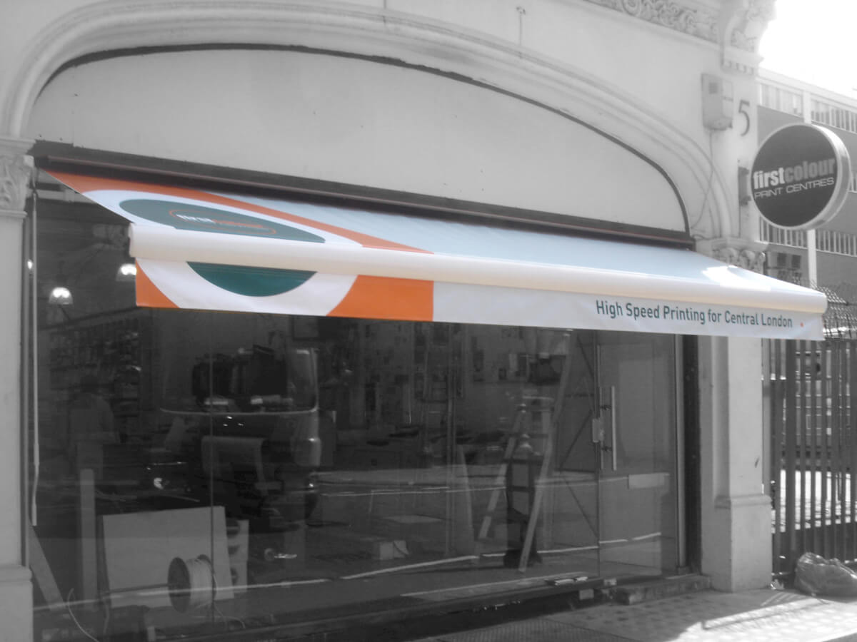Printing Place Awning design & Installation