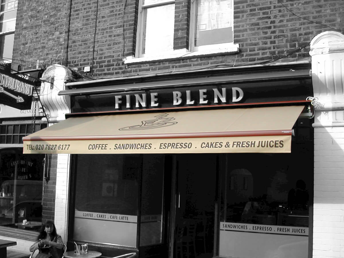 Fine Blend Coffee Shop Awning