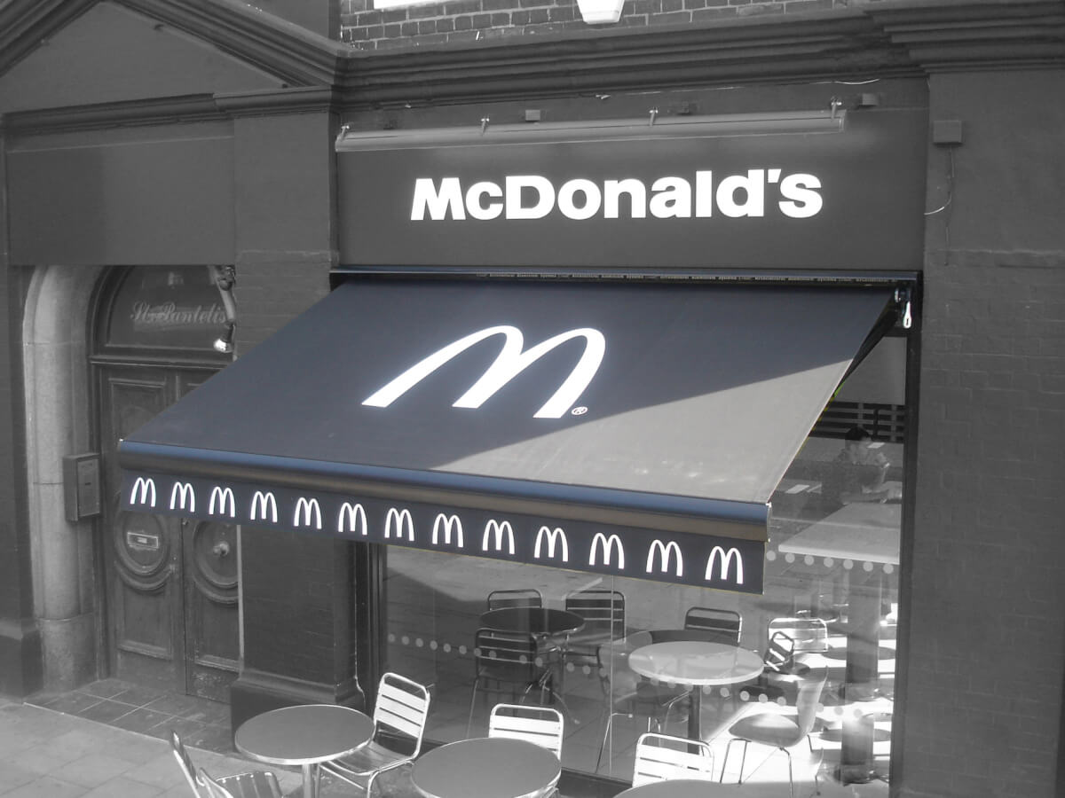 McDonalds Awning by Shades