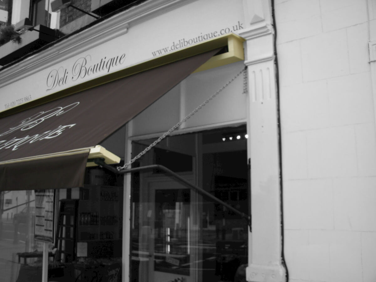 Deli Brown Awning