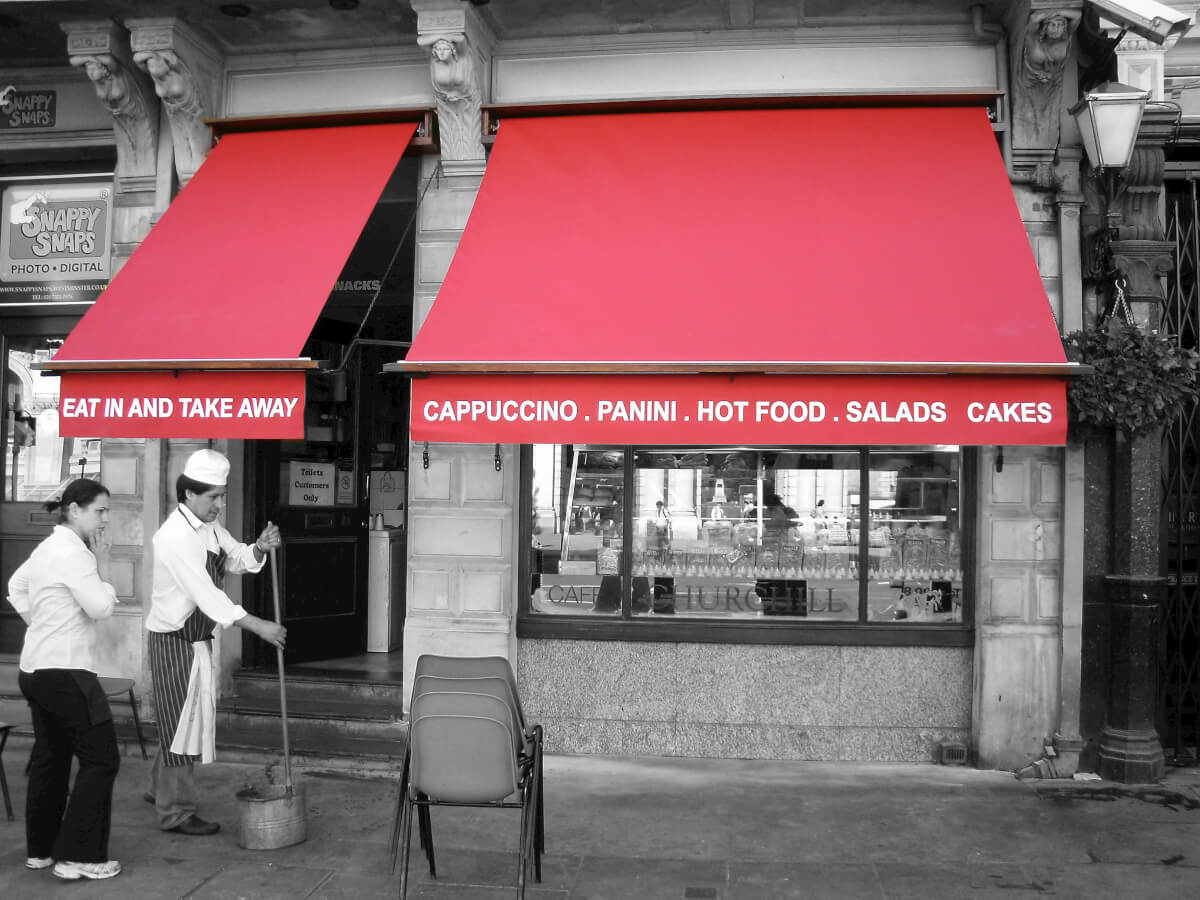 Red Awning in London