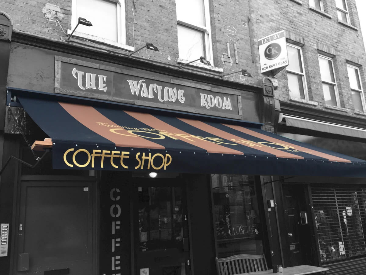 the waiting room multicolour awning