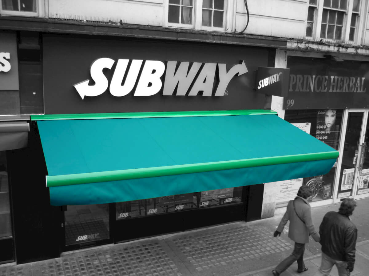 Awning for Subway in London