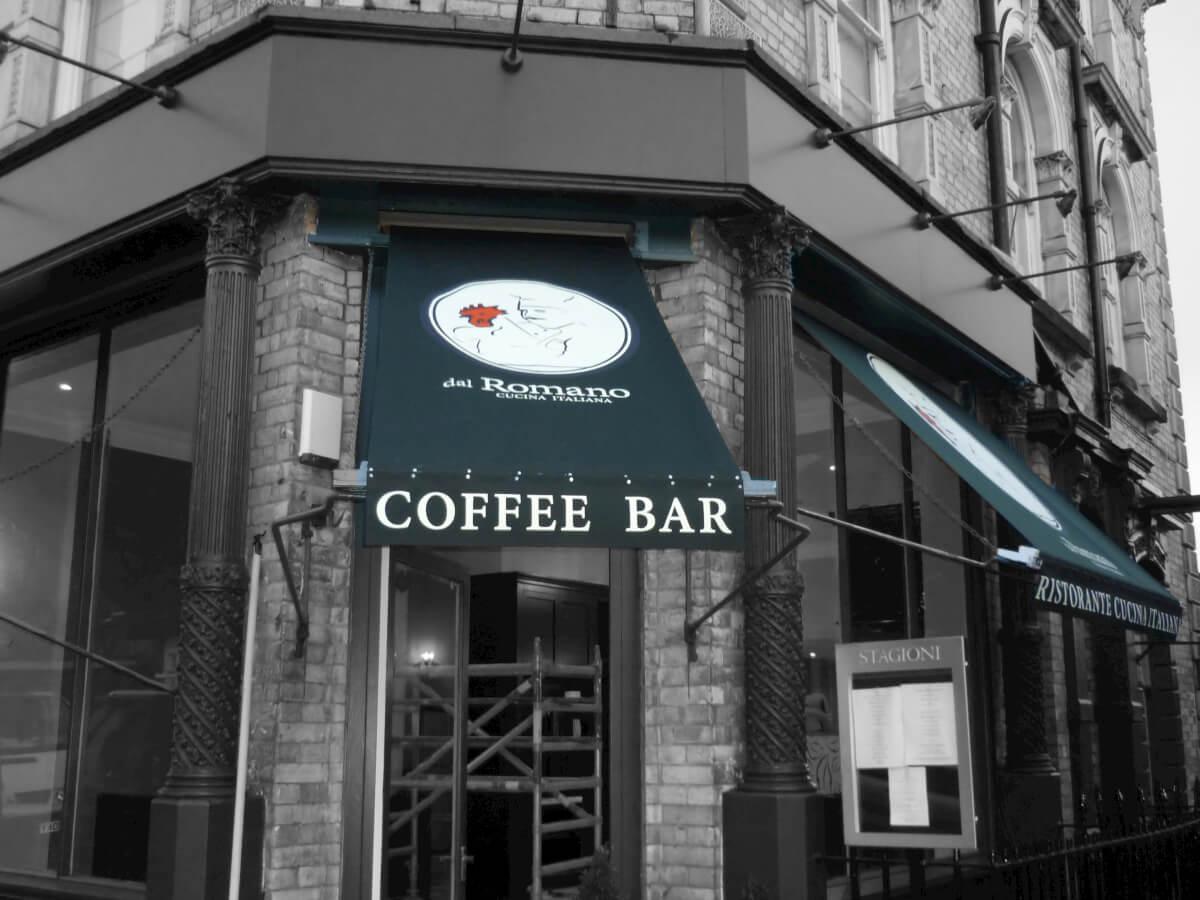 dal Romana Coffee Bar awnings