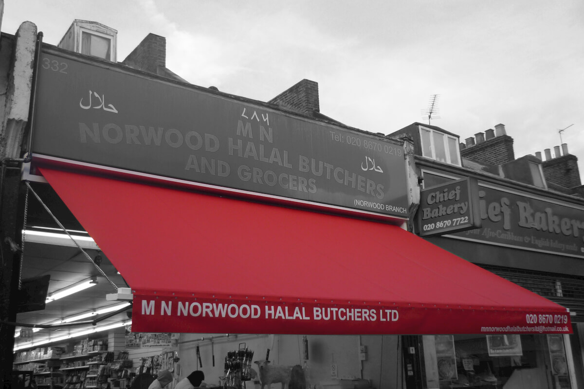 Red Awning for Butcher