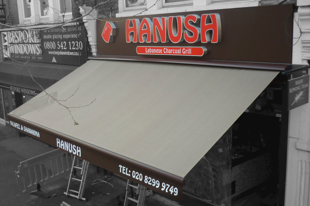 Restaurant Commercial Awning Brown