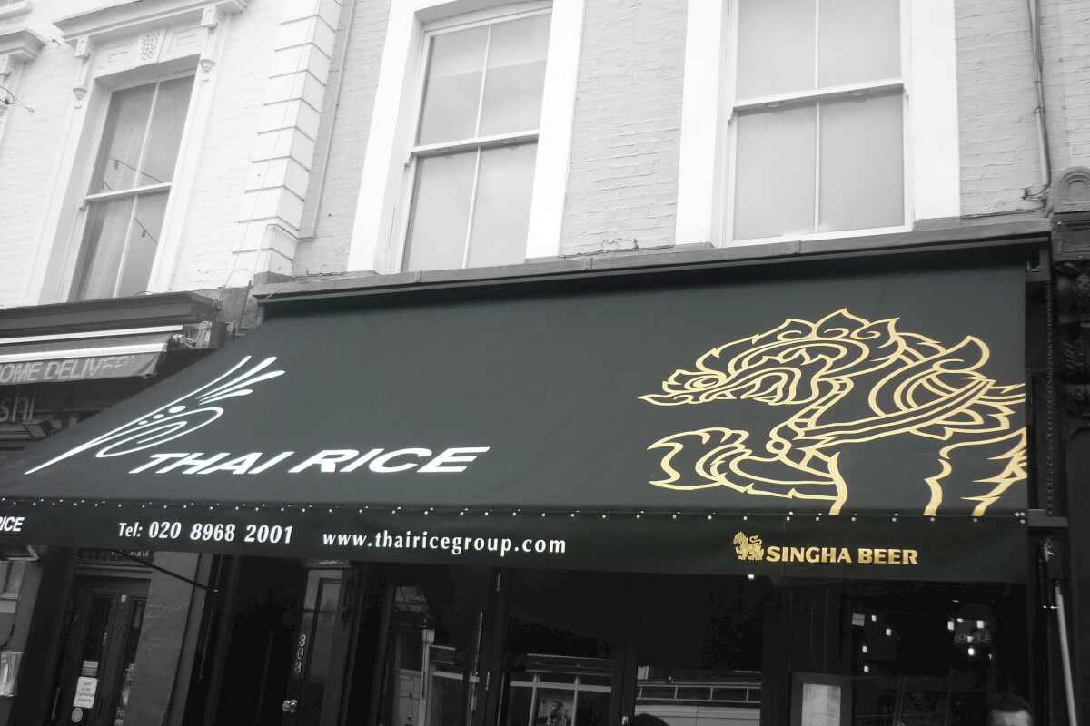 Design Awning for Thai Place in London