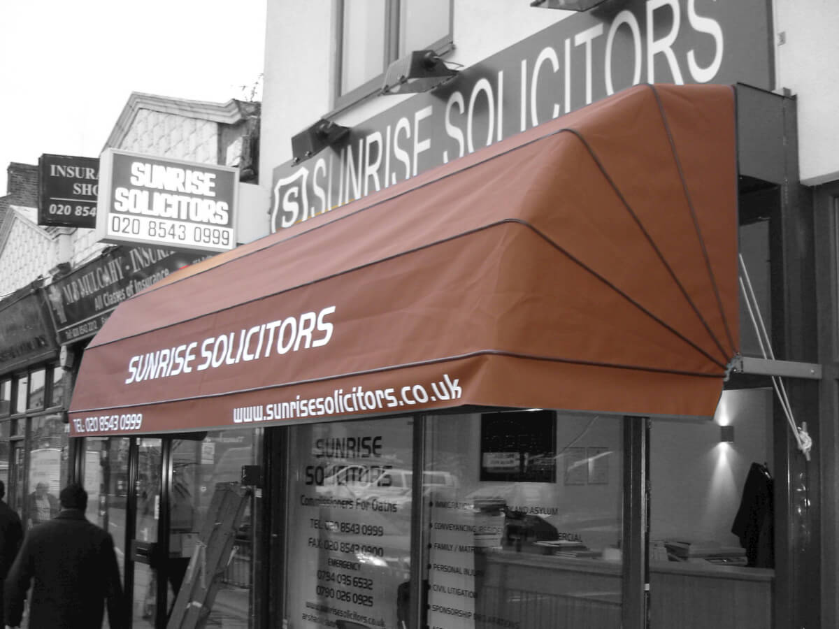 Sunrise Solicitors Awning